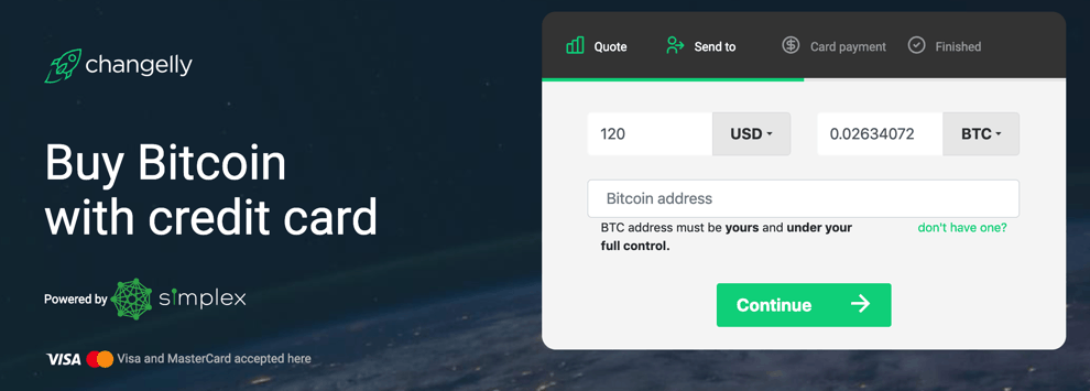 Instant Bitcoins With Credit Card