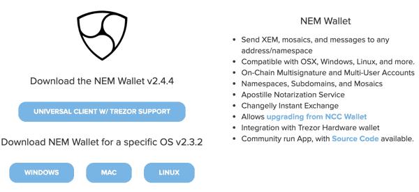 Best NEM (XEM) Wallet To Use For Windows/Mac PC