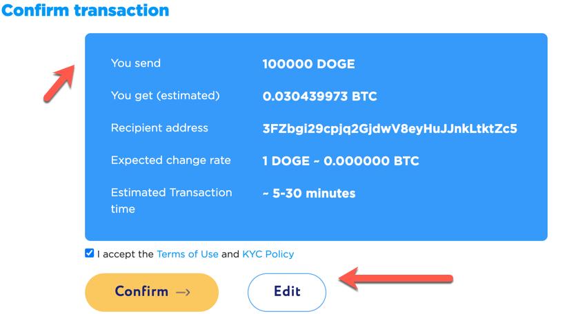 kaip konvertuoti dogecoin į bitcoin automatizuota bitcoin platforma
